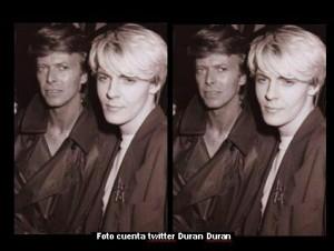 David Bowie (cuenta twitter Duran Duran B)