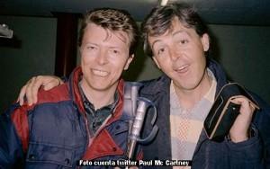 David Bowie (cuenta twitter Paul Mc Cartney)