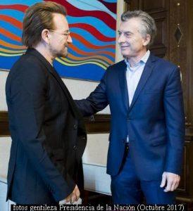 Mauricio Macri y Bono (Foto Prensa Presidencia de la Naciòn A001)
