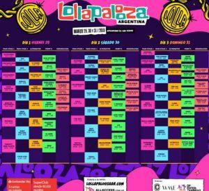 Lollapalooza Argentina (Foto Agencia TyT Group - 29 Marzo 2019 - Line Up)