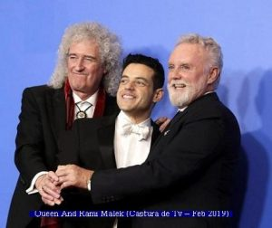 Oscars Awards 2019 (Queen and Rami Malek - TV ScreenShot A001)