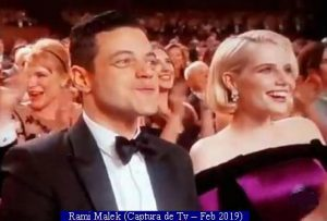 Oscars Awards 2019 (Rami Malek - TV ScreenShot A001)