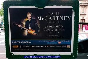 Paul Mc Cartney (Afiche Show Campo de Polo - 23 Marzo 2019 A000)
