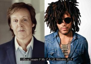 Paul Mc Cartney and Lenny Kravitz (Official Websites PMCC LK - March 2019 A001)