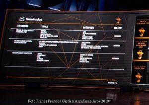 Premios Gardel (Prensa Argañaraz - Arce - 2019 A003)