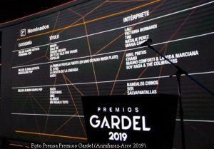 Premios Gardel (Prensa Argañaraz - Arce - 2019 A006)