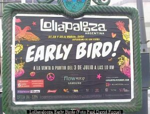 Lollapalooza Early Birds (foto Paul David Focus A04)