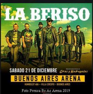 La Beriso (Foto Prensa BsAs Arena)
