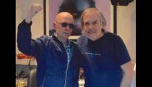 Carlos Indio Solari y Gustavo Gauvry en estudio Del Cielito (Foto Gustavo Gauvry) - A000)