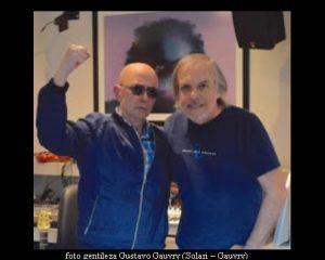 Carlos Indio Solari y Gustavo Gauvry en estudio Del Cielito (Foto Gustavo Gauvry) - A001)