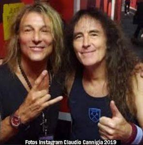 Claudio Caniggia y Steve Harris (Claudio Caniggia Instagram 2019 A)