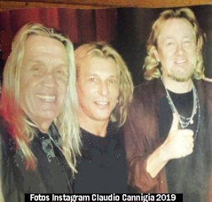 Claudio Caniggia y Steve Harris (Claudio Caniggia Instagram 2019 C)