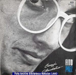 Discografìa Fito Pàez (Archivo Fotogràfico Biblioteca Noticias 1440 - A003)