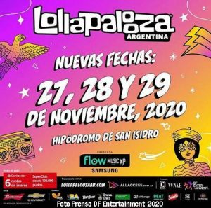Lollapalooza (27 28 29 Noviembre 2020 San Isidro Foto A - DF Entertainment)