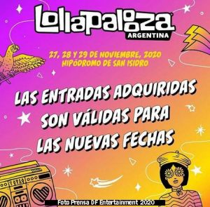Lollapalooza (27 28 29 Noviembre 2020 San Isidro Foto C - DF Entertainment)