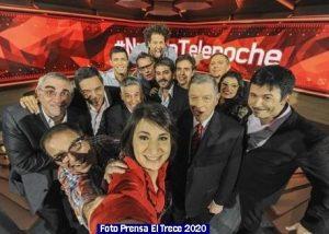 Informe Noticias El Trece 010 Telenoche 2018 (Foto Prensa El Trece)